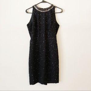 VTG Beaded Black Evening Dress   size 4